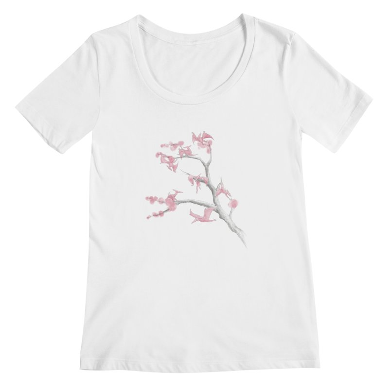 Ptiny Pterosaurs Women's Scoopneck by Adam White's Shop