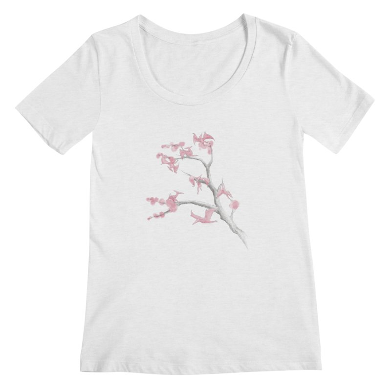 Ptiny Pterosaurs Women's Scoop Neck by Adam White's Shop