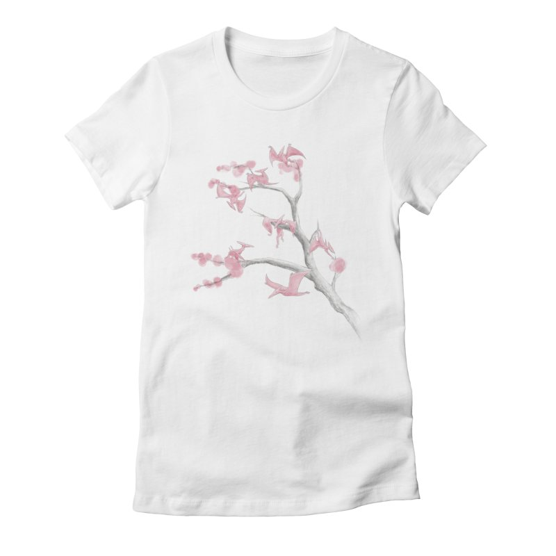 Ptiny Pterosaurs Women's Fitted T-Shirt by Adam White's Shop