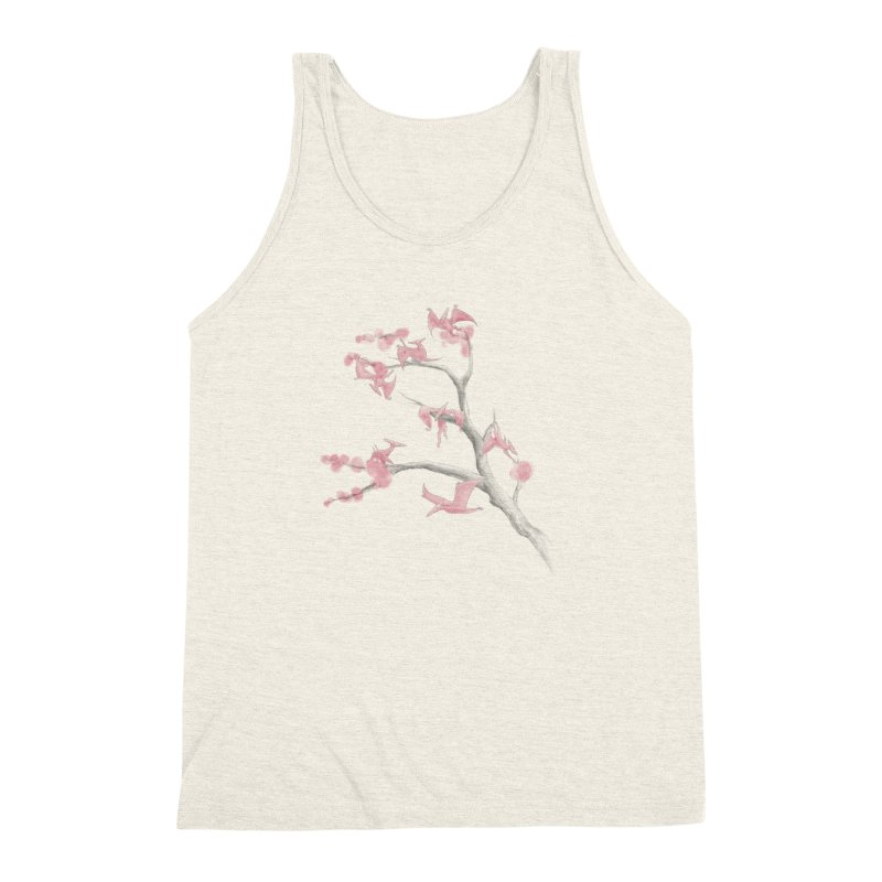 Ptiny Pterosaurs Men's Triblend Tank by Adam White's Shop