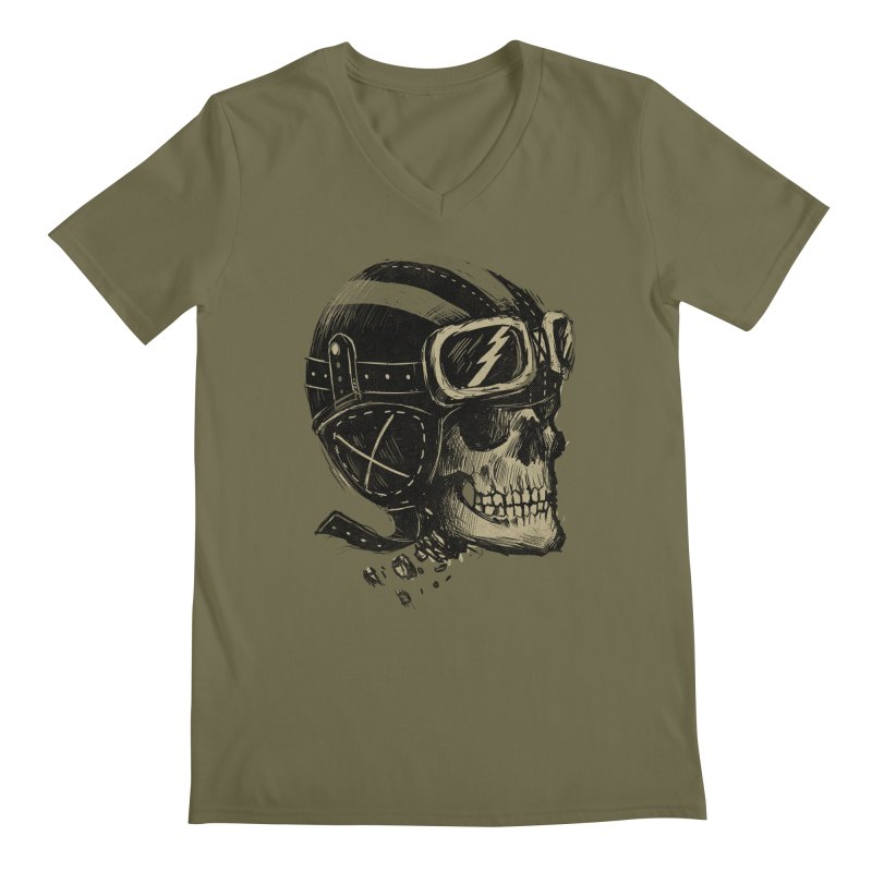 Ride or Die Men's Regular V-Neck by Adam White's Shop