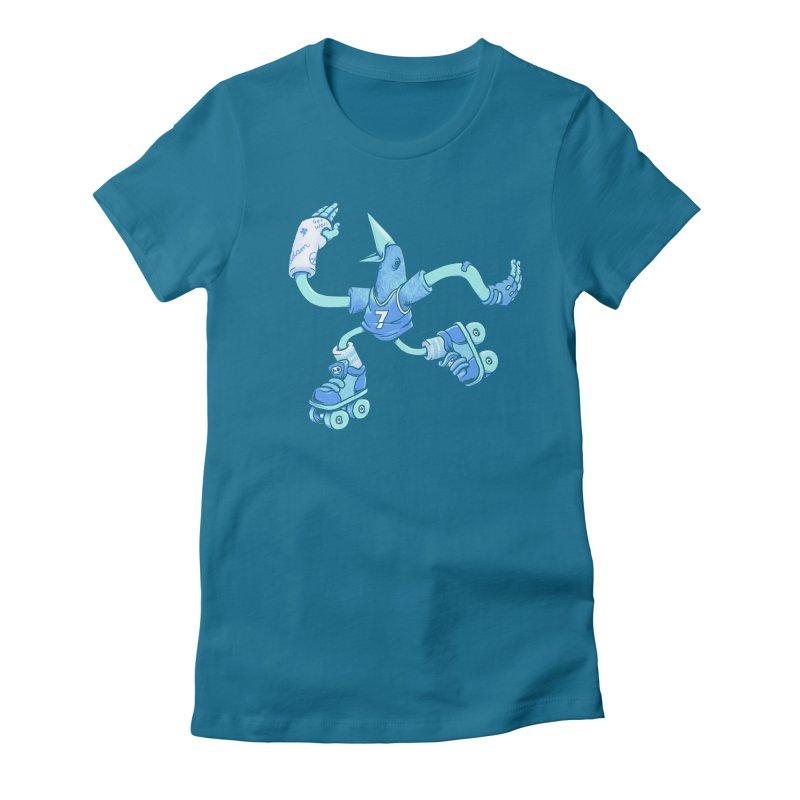 Skatebird Women's Fitted T-Shirt by Adam White's Shop