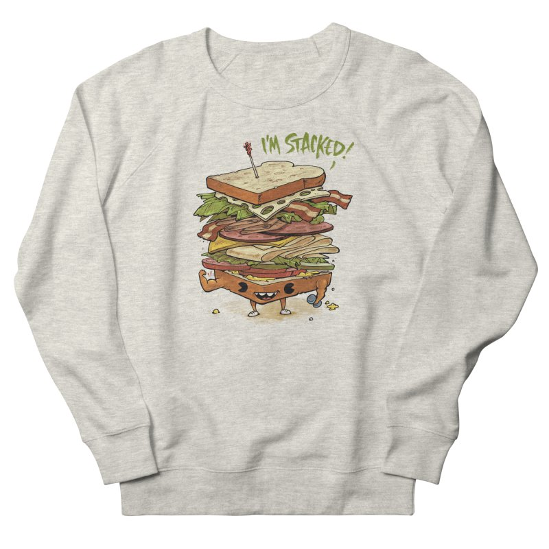 Totally Stack Men's French Terry Sweatshirt by Adam White's Shop