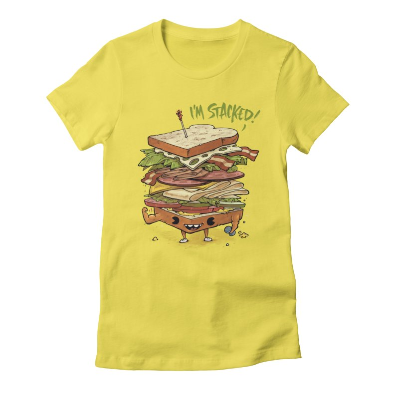 Totally Stack Women's Fitted T-Shirt by Adam White's Shop