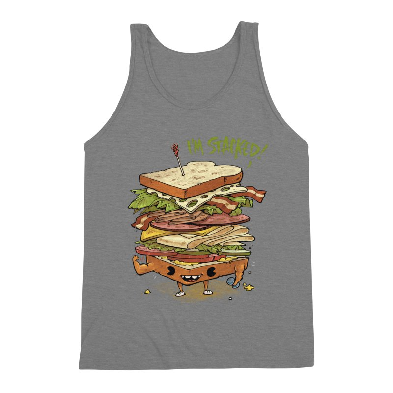 Totally Stack Men's Triblend Tank by Adam White's Shop