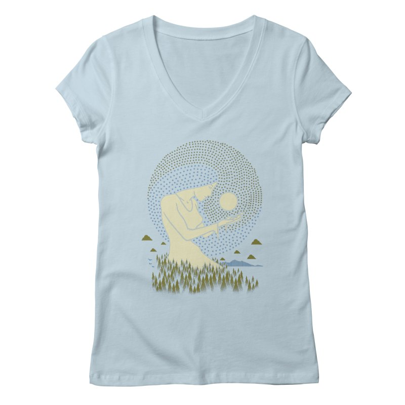 Moonlight Women's V-Neck by Adam White's Shop