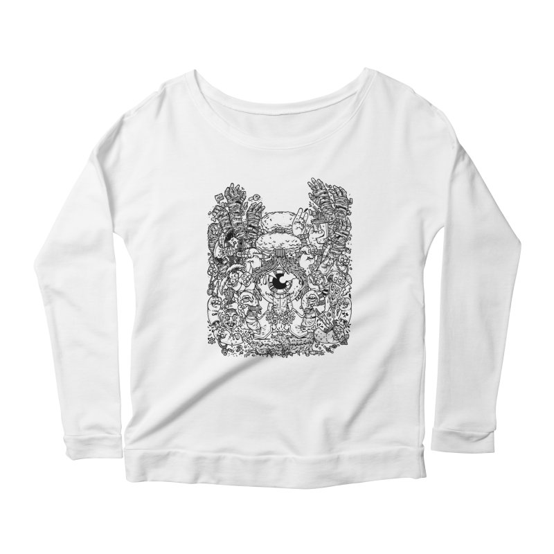 WAKING UP IS HARD TO DO Women's Longsleeve Scoopneck  by Adam White's Shop