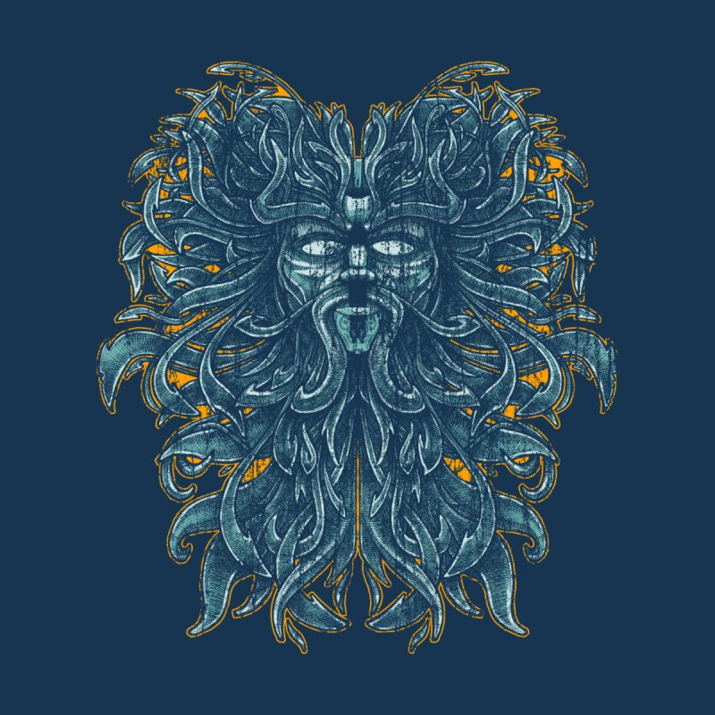 SUN LION Men's V-Neck by Adam White's Shop