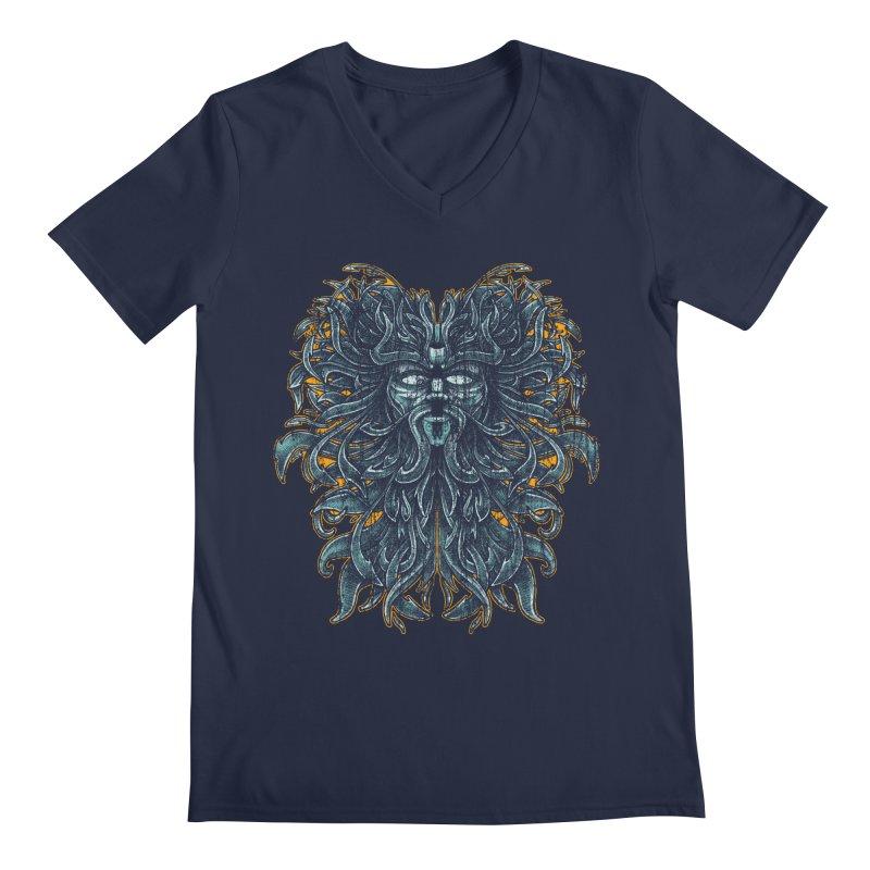SUN LION Men's V-Neck by Adam White's Shop