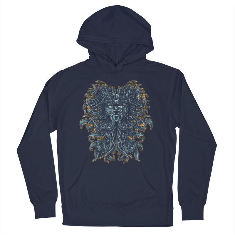SUN LION Men's French Terry Pullover Hoody by Adam White's Shop