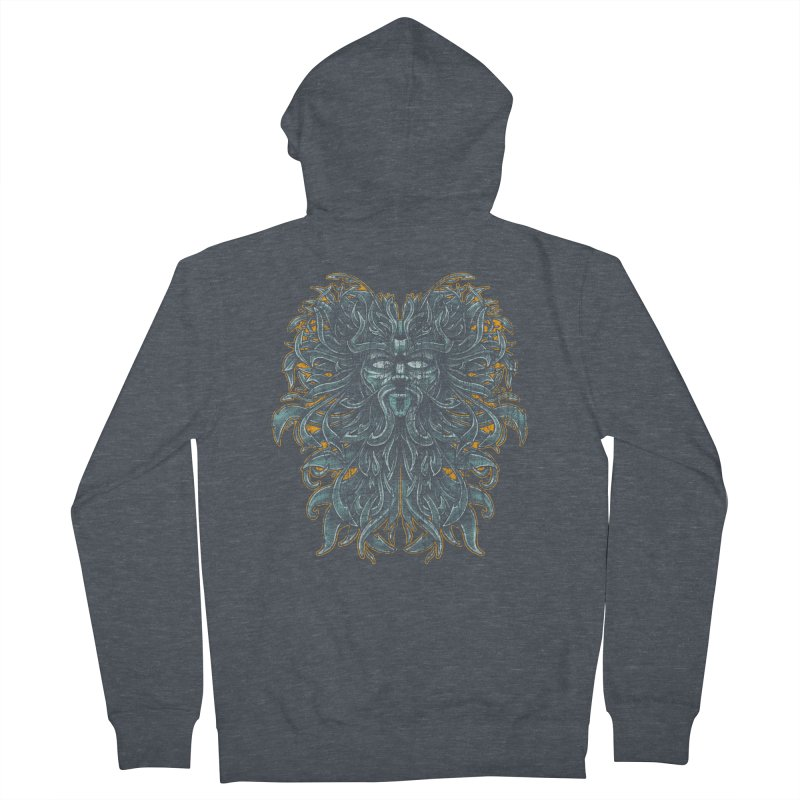 SUN LION Men's Zip-Up Hoody by Adam White's Shop