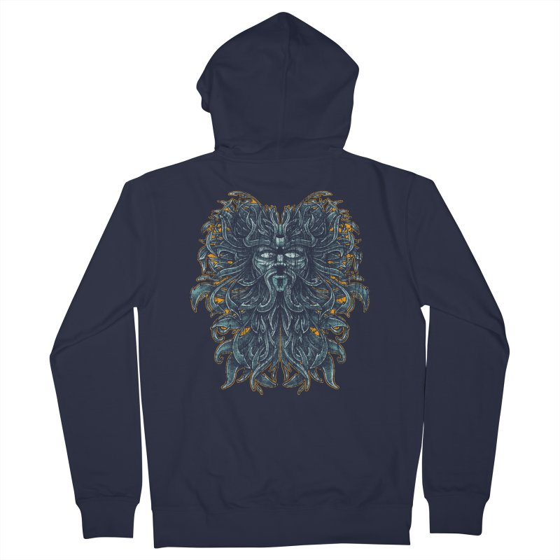 SUN LION Men's French Terry Zip-Up Hoody by Adam White's Shop