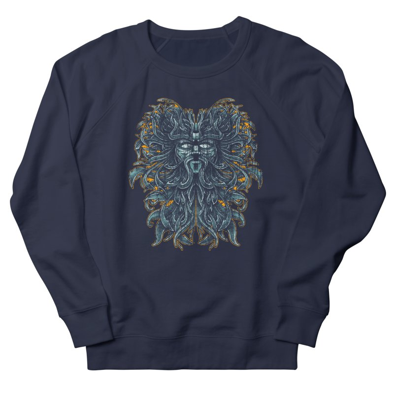 SUN LION Men's French Terry Sweatshirt by Adam White's Shop