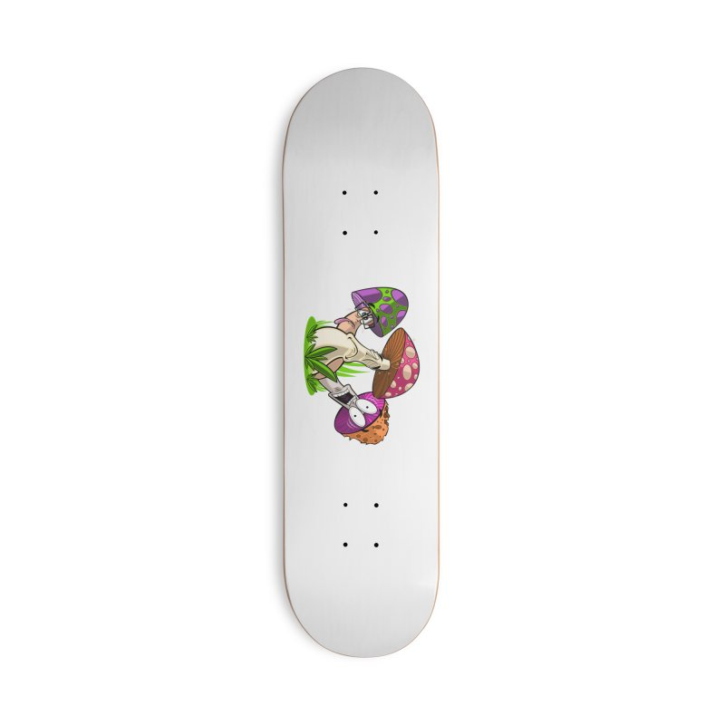 Mushroom Friends Accessories Skateboard by adamzworld's Artist Shop