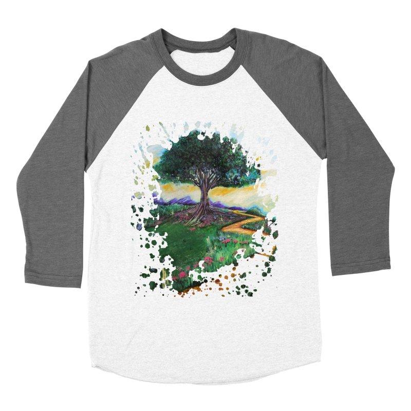 Tree Of Imagination Men's Baseball Triblend T-Shirt by adamzworld's Artist Shop