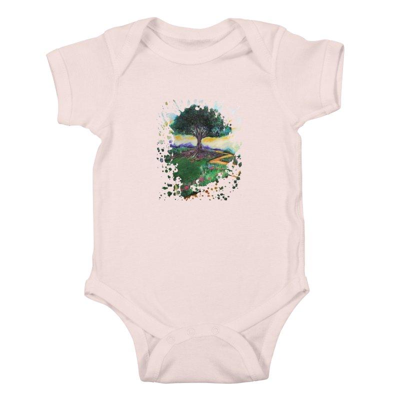 Tree Of Imagination Kids Baby Bodysuit by adamzworld's Artist Shop