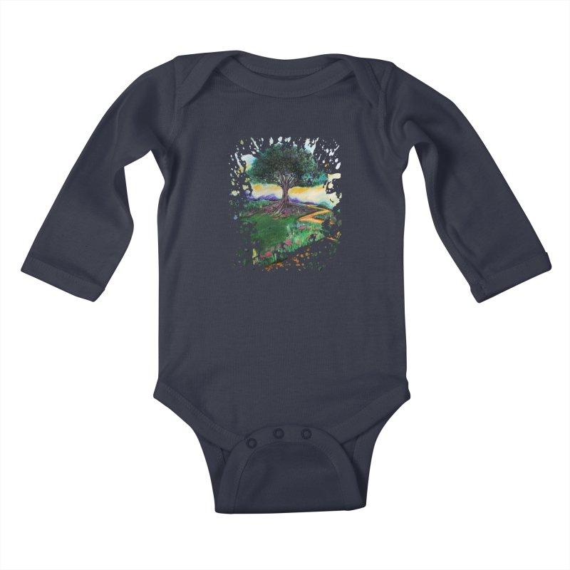 Tree Of Imagination Kids Baby Longsleeve Bodysuit by adamzworld's Artist Shop