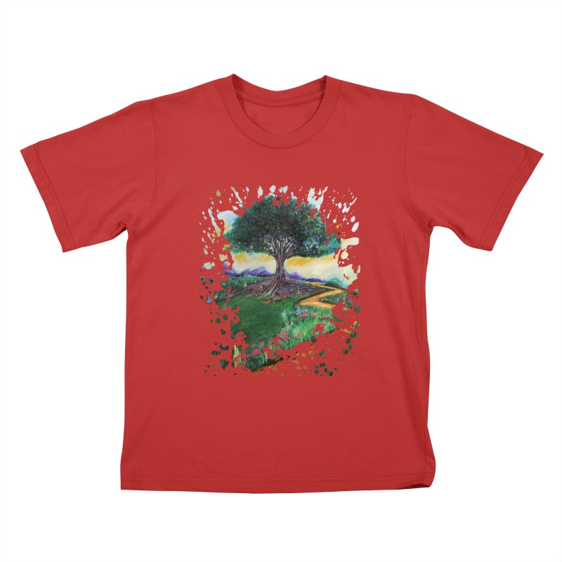 Tree Of Imagination Kids T-shirt by adamzworld's Artist Shop
