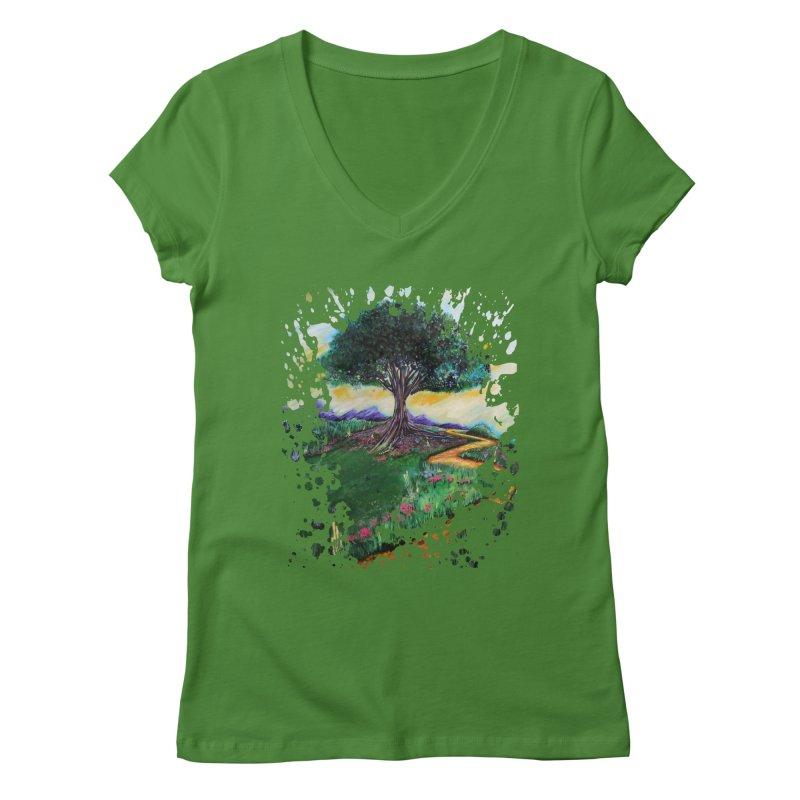 Tree Of Imagination Women's V-Neck by adamzworld's Artist Shop