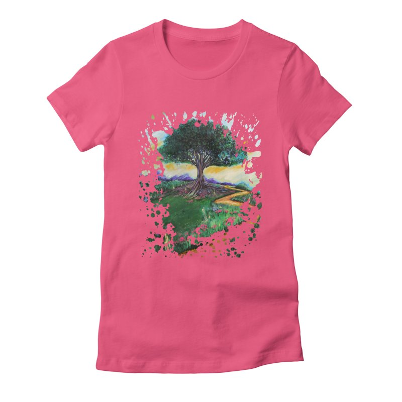 Tree Of Imagination Women's Fitted T-Shirt by adamzworld's Artist Shop