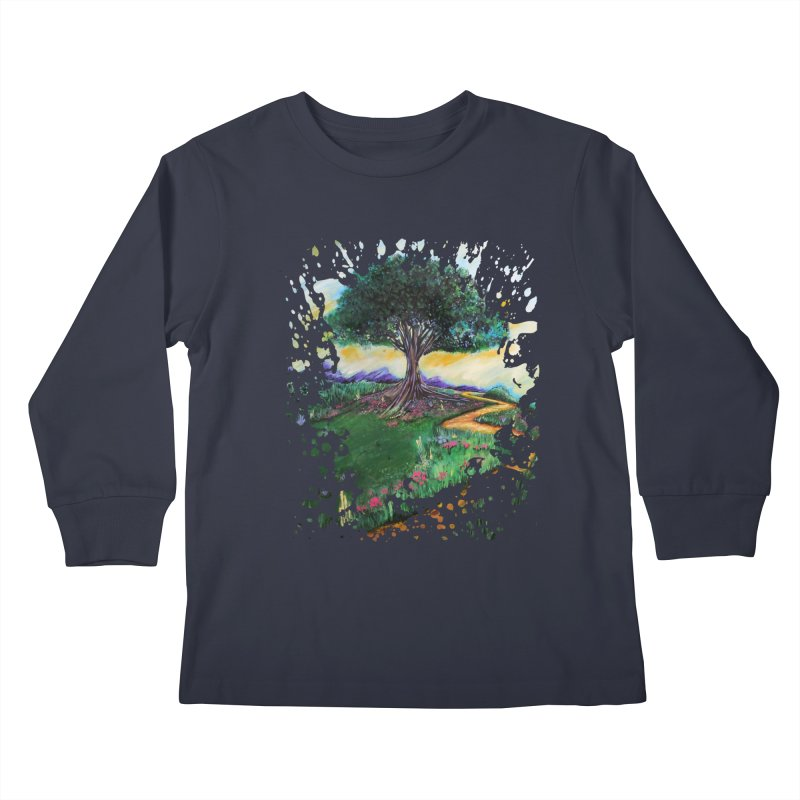 Tree Of Imagination Kids Longsleeve T-Shirt by adamzworld's Artist Shop