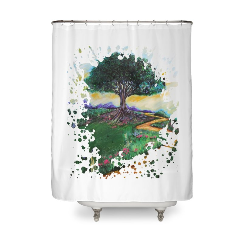 Tree Of Imagination Home Shower Curtain by adamzworld's Artist Shop