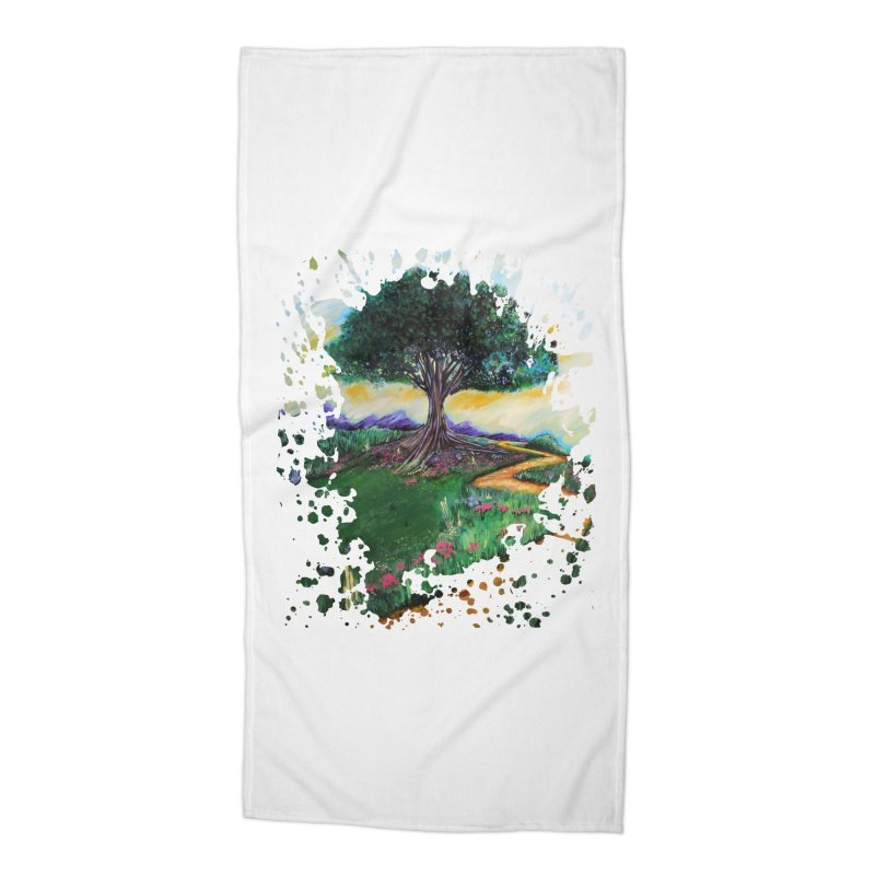 Tree Of Imagination Accessories Beach Towel by adamzworld's Artist Shop