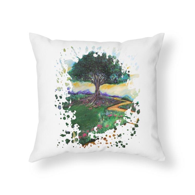 Tree Of Imagination Home Throw Pillow by adamzworld's Artist Shop