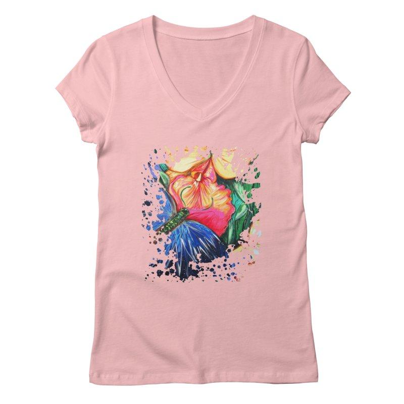 Butterfly Life Women's V-Neck by adamzworld's Artist Shop