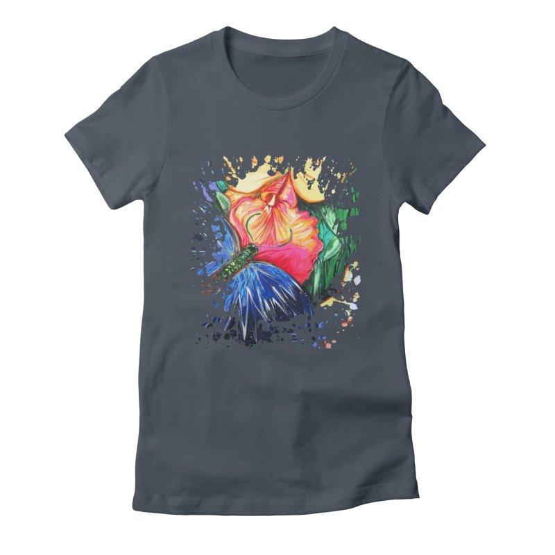 Butterfly Life Women's Fitted T-Shirt by adamzworld's Artist Shop