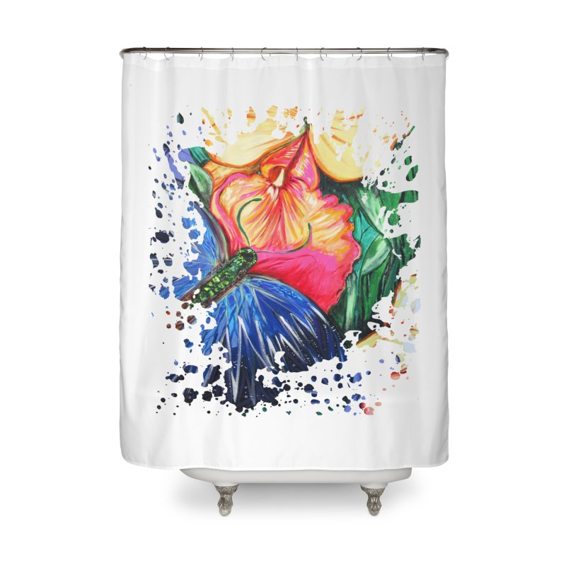 Butterfly Life Home Shower Curtain by adamzworld's Artist Shop