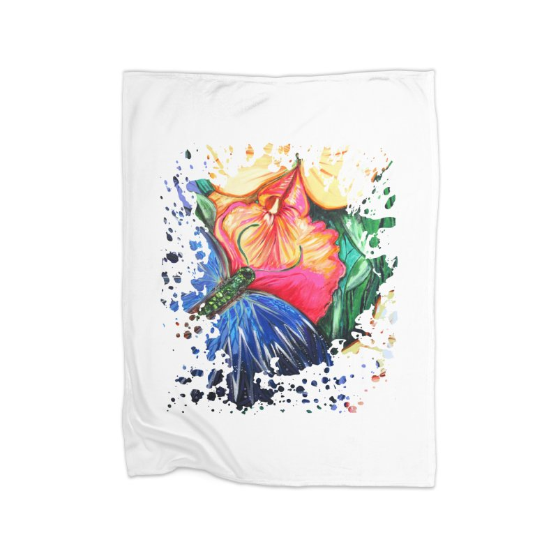 Butterfly Life Home Blanket by adamzworld's Artist Shop