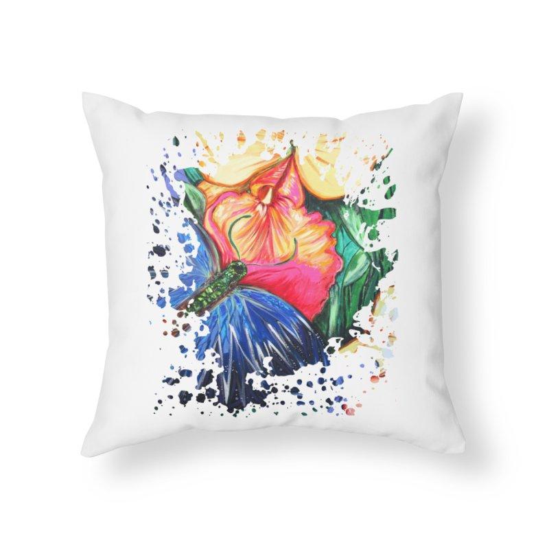 Butterfly Life Home Throw Pillow by adamzworld's Artist Shop