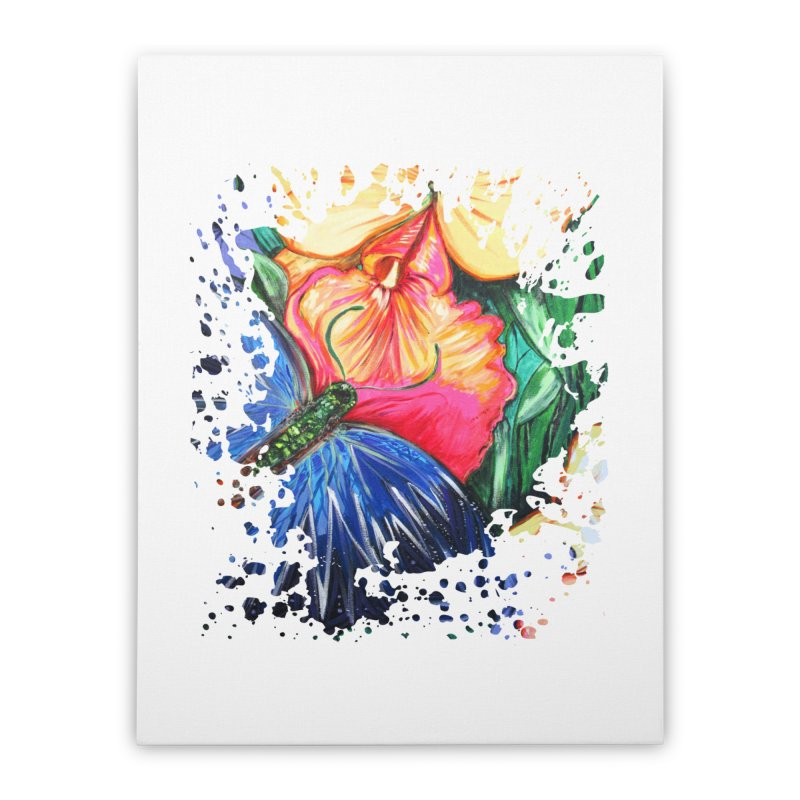 Butterfly Life Home Stretched Canvas by adamzworld's Artist Shop