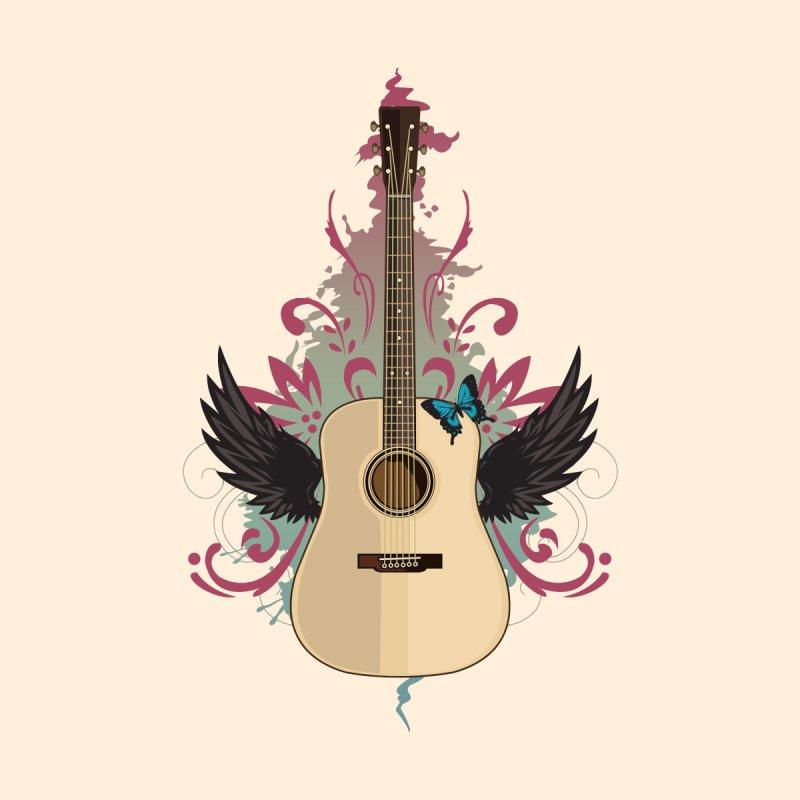Guitar Vibes Women's V-Neck by adamzworld's Artist Shop