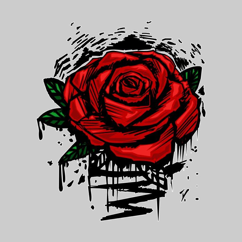 Rugged Rose Women's V-Neck by adamzworld's Artist Shop