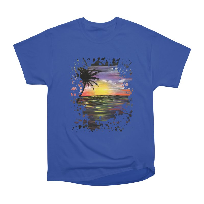 Sunset Sea Women's Classic Unisex T-Shirt by adamzworld's Artist Shop