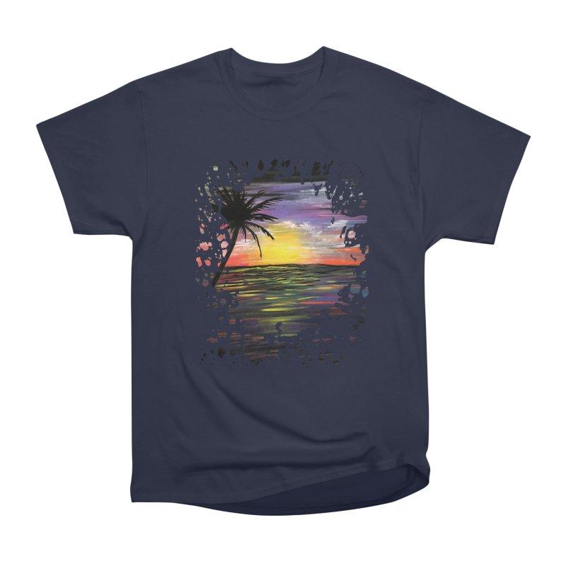 Sunset Sea Men's Classic T-Shirt by adamzworld's Artist Shop