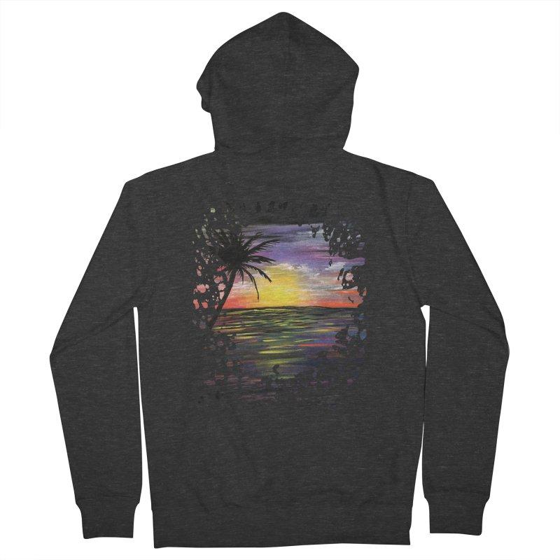 Sunset Sea Women's Zip-Up Hoody by adamzworld's Artist Shop