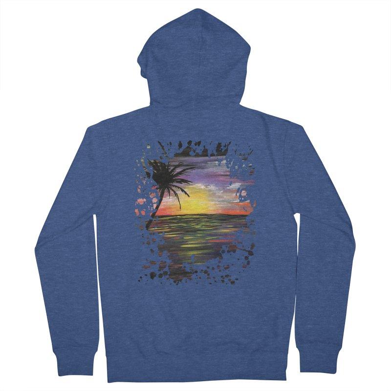 Sunset Sea Men's Zip-Up Hoody by adamzworld's Artist Shop