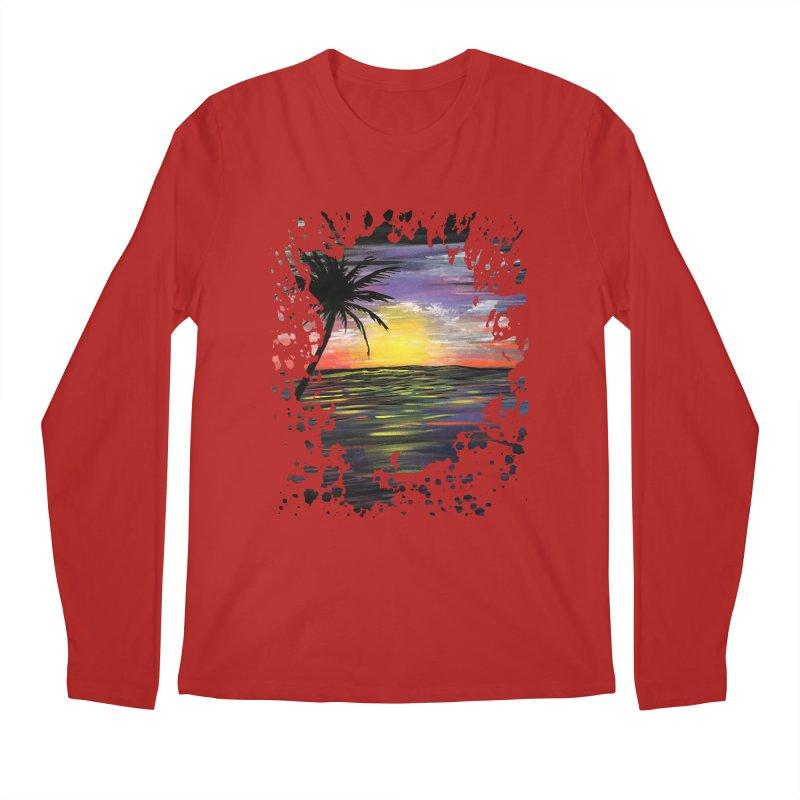 Sunset Sea Men's Longsleeve T-Shirt by adamzworld's Artist Shop
