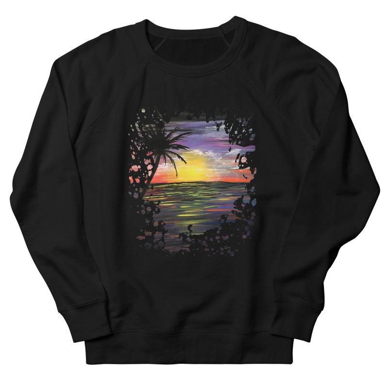 Sunset Sea Men's Sweatshirt by adamzworld's Artist Shop