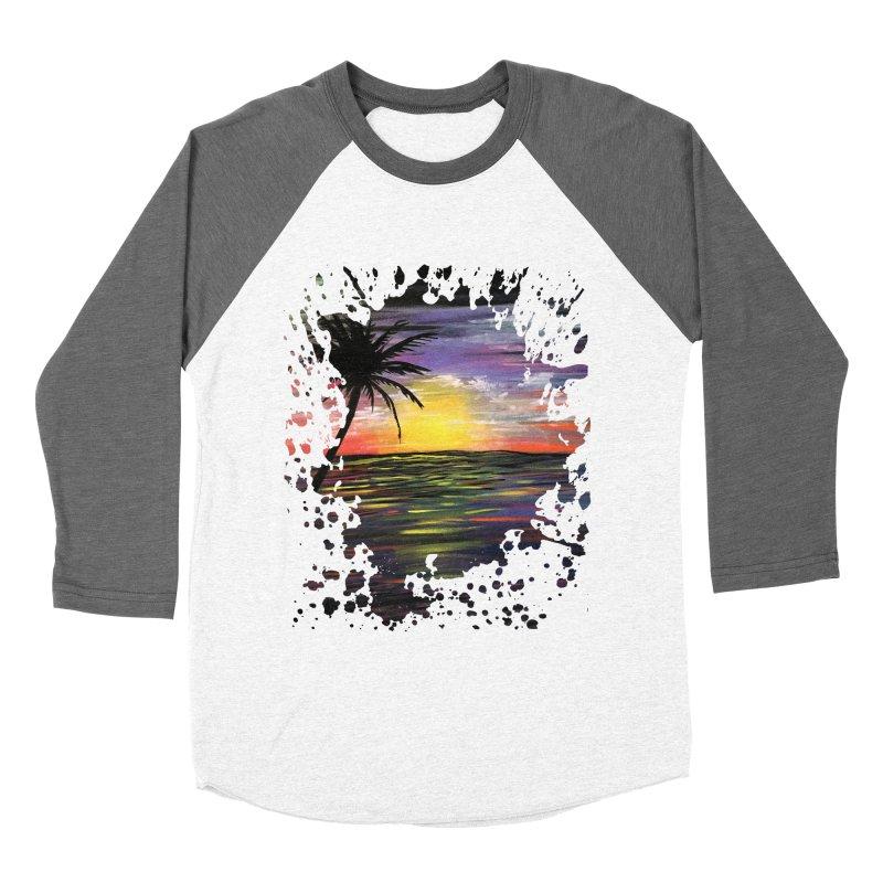 Sunset Sea Women's Baseball Triblend T-Shirt by adamzworld's Artist Shop
