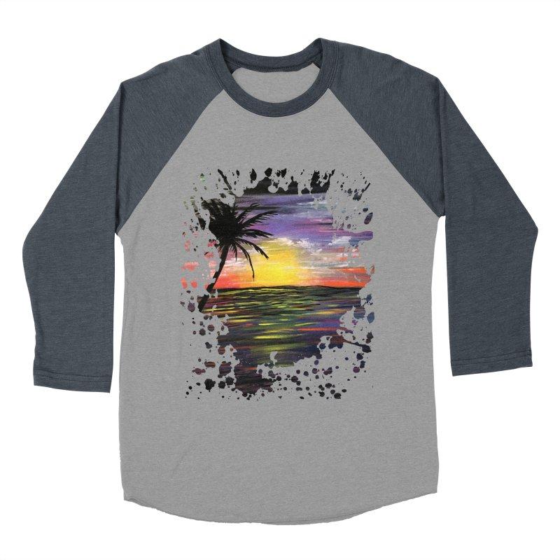 Sunset Sea Men's Baseball Triblend T-Shirt by adamzworld's Artist Shop