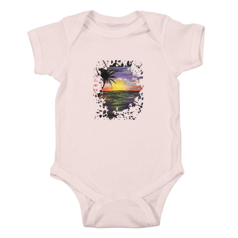 Sunset Sea Kids Baby Bodysuit by adamzworld's Artist Shop