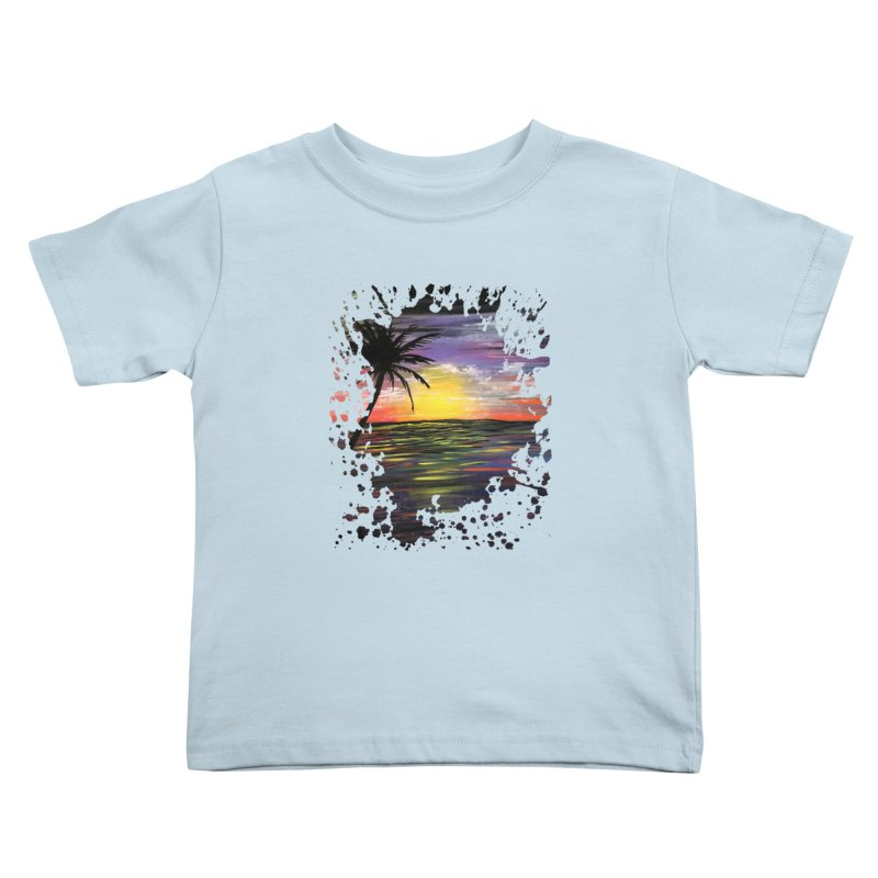 Sunset Sea Kids Toddler T-Shirt by adamzworld's Artist Shop
