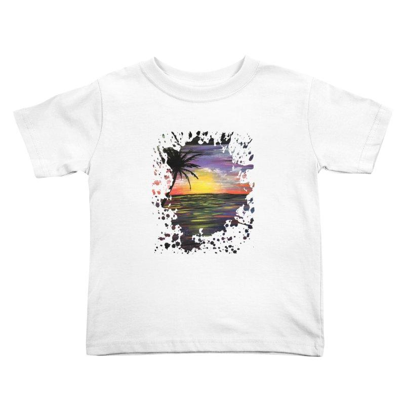 Sunset Sea Kids Toddler T-Shirt by adamzworld's Artist Shop