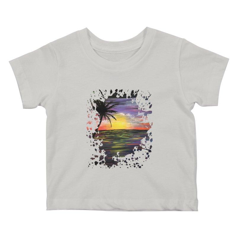Sunset Sea Kids Baby T-Shirt by adamzworld's Artist Shop