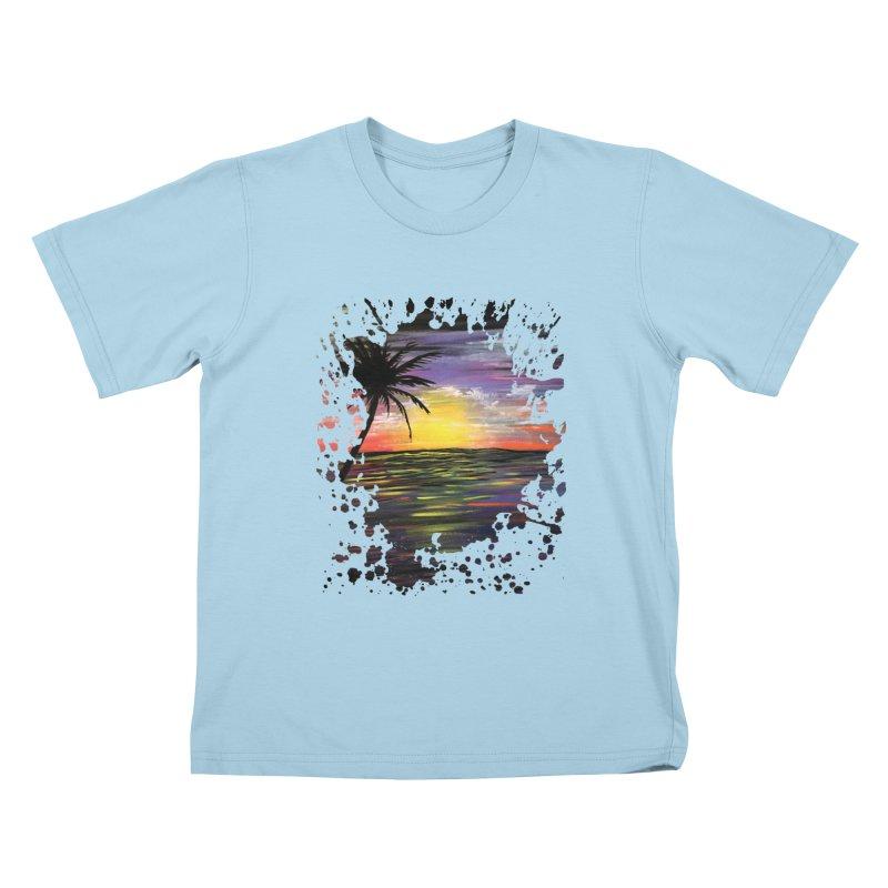 Sunset Sea Kids T-shirt by adamzworld's Artist Shop