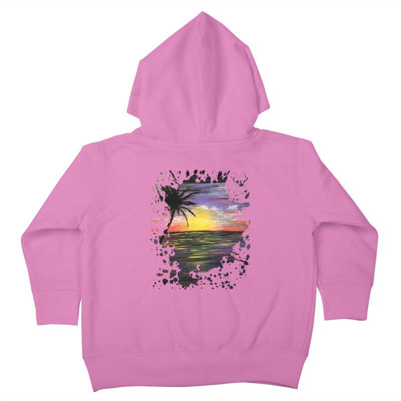 Sunset Sea Kids Toddler Zip-Up Hoody by adamzworld's Artist Shop